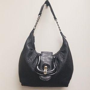 FENDI Pebbled Leather Shoulder Bag
